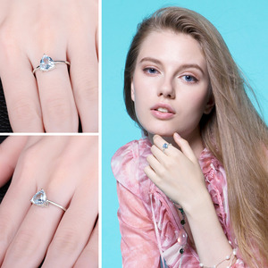 Image 4 - JewelryPalaceของแท้Blue TopazแหวนSolitaire 925 เงินสเตอร์ลิงแหวนแหวนหมั้นแหวนเงิน 925 เครื่องประดับอัญมณี