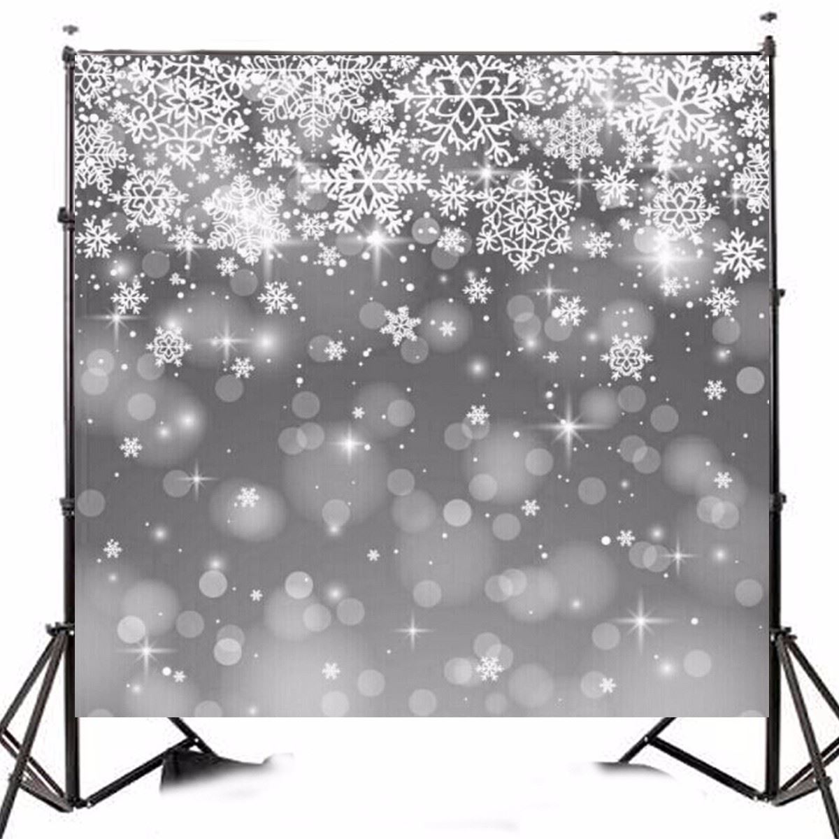 10x10ft Backdrop Christmas Theme Snowflake Stars Vinyl Photography Background cloth For Studio Photo 3x3meters waterproof