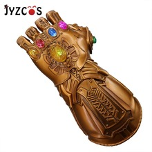 JYZCOS LED Light Thanos Infinity Gauntlet The Avengers 4:ENDGAME Cosplay Superhero PVC Glove Halloween Party Props