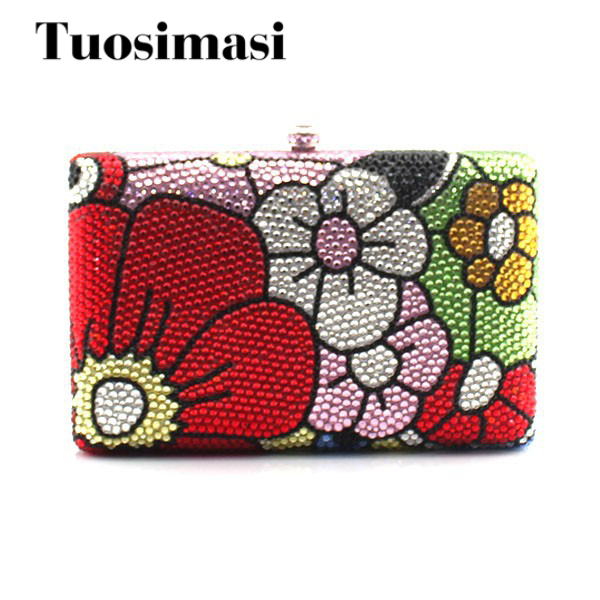 Beautiful Flower Ladies Crystal Clutch Evening Handbags wholesale cc308 full range wireless camera gps anti spy bug detect rf signal detector gsm device finder fnr cc308
