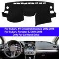 Покрытие приборной панели автомобиля покрытие для приборной панели Авто тире коврик ковровое покрытие для Subaru XV crosstrek/Impreza 2012-2016 Forester SJ 2014-2018