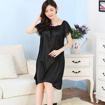 e26f02503d40 Vestido de noche casual de invierno para mujer, ropa de dormir, camisones  de lunares, ropa de dormir ...