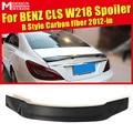 W218 задний спойлер R Стиль углеродное волокно для Mercedes Benz CLS-W218 Cls350 cls400 cls500 спойлер заднего багажника  крыла Стайлинг автомобиля 2012 +