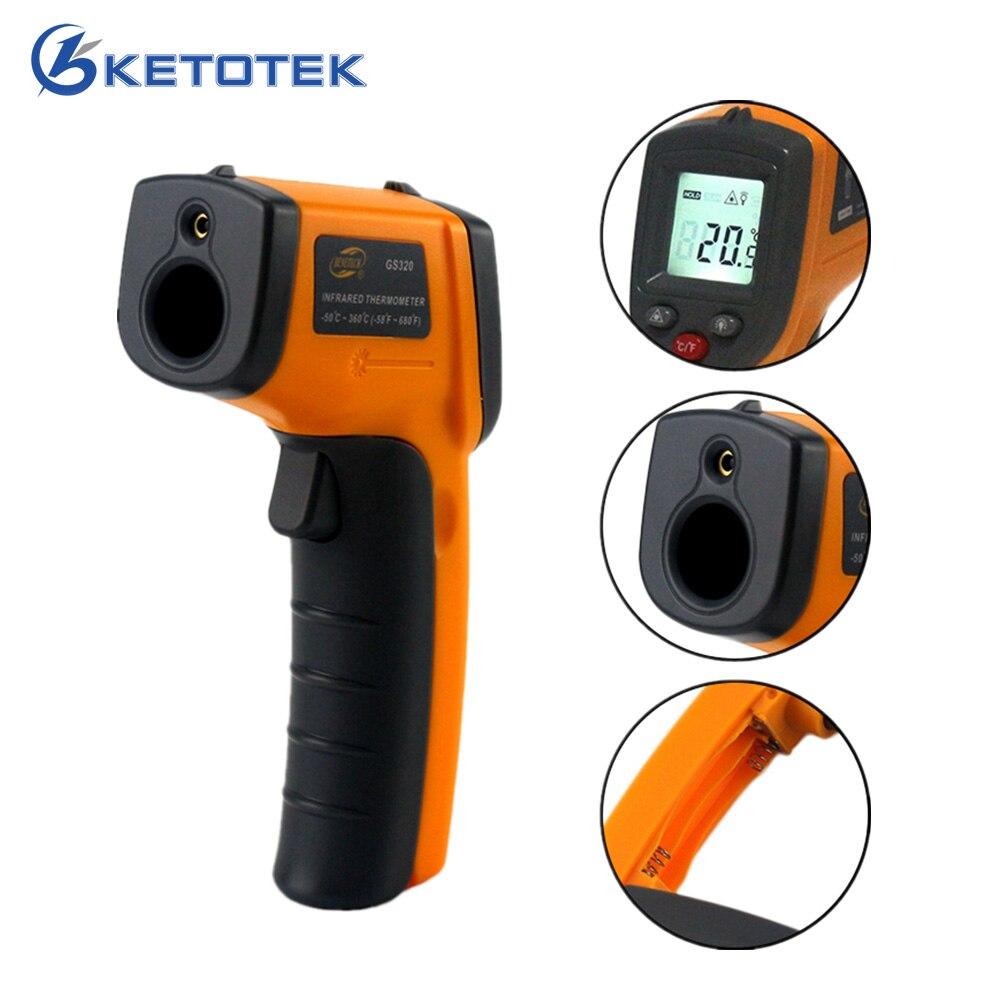 GS320 Numérique IR Infrarouge Thermomètre Sans Contact Laser LCD Mètre de La Température-50 ~ 360C-58 ~ 680F Gun Point