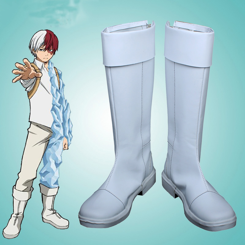 My Hero Academia Todoroki Cosplay Boots Shoes Anime Party Cosplay Boots Custom Made for Men Shoes