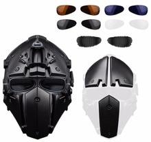 WoSporT 2018 Новый Спортивный Тактический обсидиан зеленый GOBL Терминатор Велоспорт Шлем маска плюс Охота Пейнтбол военная униформа