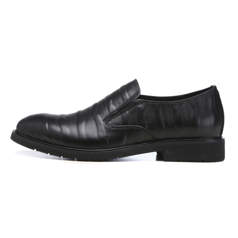 Cuero Genuino Hombres Ocasionales Cómodos Zapatos Ss17 marrón De Del Redonda Pie Resbalón Hecho Mocasines Rayas En Hombre Nueva A Calzado Negro Dedo Llegada Los Mano aqA0waY