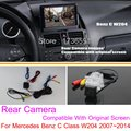 For Mercedes Benz C Class W204 2007~2014 / RCA & Original Screen Compatible / Car Rear View Camera Sets / Back Up Reverse Camera
