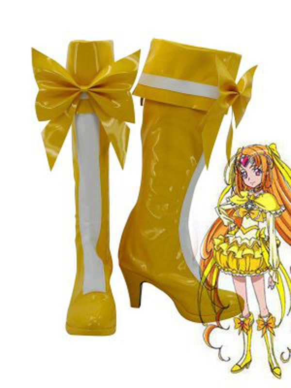 Pretty Cure Ako Shirabe Cure Music Cosplay Boots Shoes Anime Party Cosplay Boots Custom Made for Adult Women High Heel Shoes
