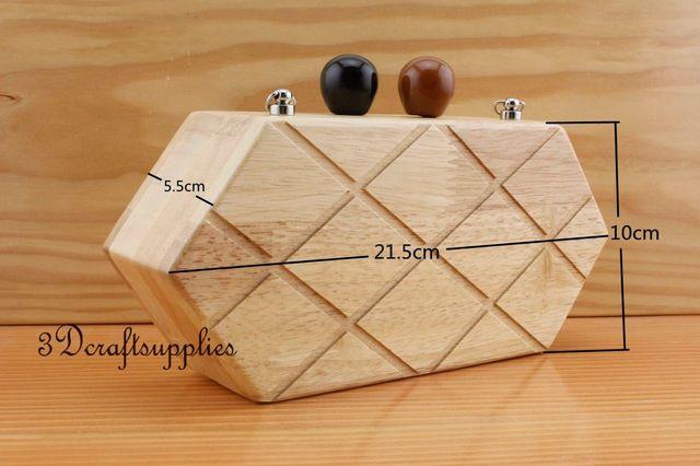 Madera marco del monedero caja de madera naturaleza 8 1/2 inch x 4 ...