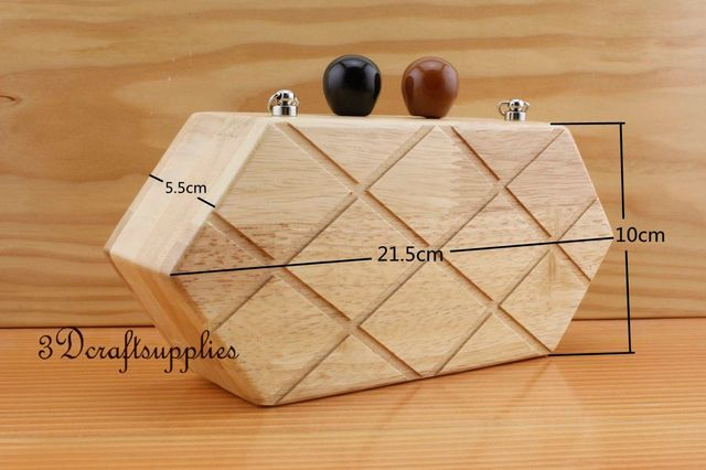 wood purse frame wooden box nature 8 1/2 inch x 4 inch M77-in Bag ...
