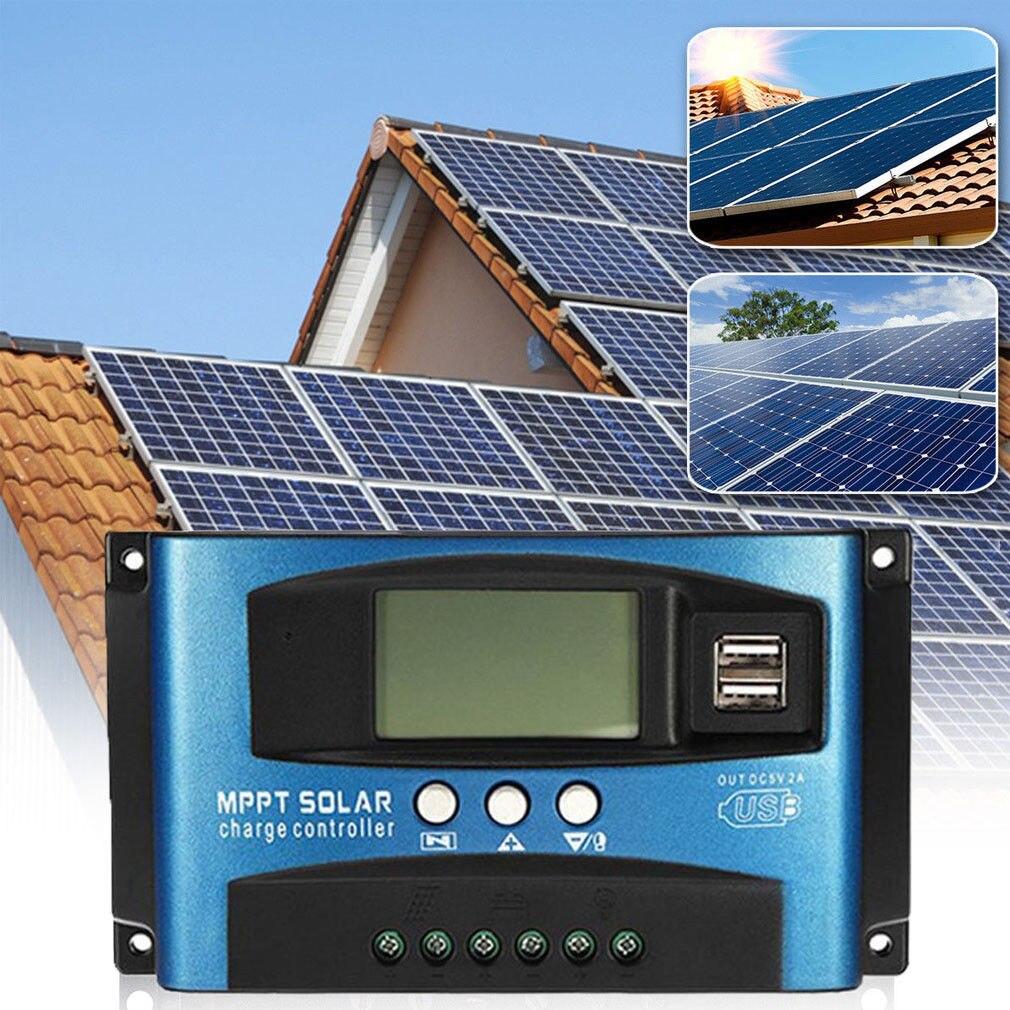 Gorący Auto ogniwo słoneczne 40-100A MPPT 12 V/24 V LCD regulator panelu słonecznego kontroler ładowania automatyczne ustawianie ostrości śledzenie 10A/20A/30A 12 V/24 V
