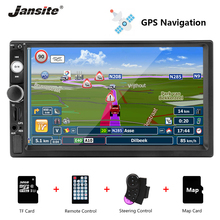 Jansite 7 1080P Car Radio DVD GPS MP5 player Digital Touch screen Multimedia mirror 2 din car autoradio With Rear camera