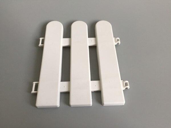 Staccionata In Plastica Giardino.10 Pz Lotto D17 H19cm Bianco Recinzione In Plastica Piccolo