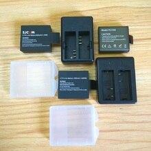 Caricabatterie originale SJCAM EKEN Soocoo batteria 1350/1050mAh per sj4000 Sj5000 c30 H9 THIEYE T5E E7 accessori per fotocamere cationiche