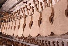 2 stücke 4/4 violine unfinished Flamme ahornboden Russische fichte top Großhandel
