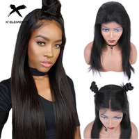 Peruvian Lace Front Human Hair Wigs for Black Women Straight Non Remy Hair 13*4 Lace Frontal Wig With Baby Hair X Elements Hair