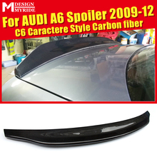 For Audi A6 A6A A6Q High-quality Rear Spoiler Tail C6 Caractere Type Coupe Carbon Trunk Wing car styling 09-12