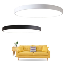 купить Modern LED 5cm Ceiling lamp luminaria led teto black/white Ceiling Lights for living room kids room aisle Home Light Fixtures по цене 1306.53 рублей