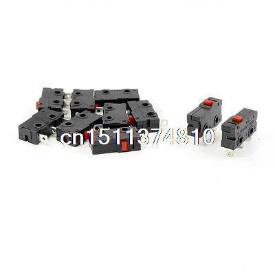 цена на 10pcs 125VAC 5A Red Push Button Actuator Momentary Mini Microswitch 3-Pin SPDT