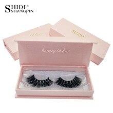 SHIDISHANGPIN 1 box mink eyelashes natural long makeup 3d eyelashes hand made false eyelashes full strip lashes 3d mink lashes 6