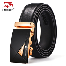 DINISITON New Brand Designer Belts For Men High Quality Metal Automatic Buckle Men Strap Luxury Genuine Leather Belt XLZD05-9