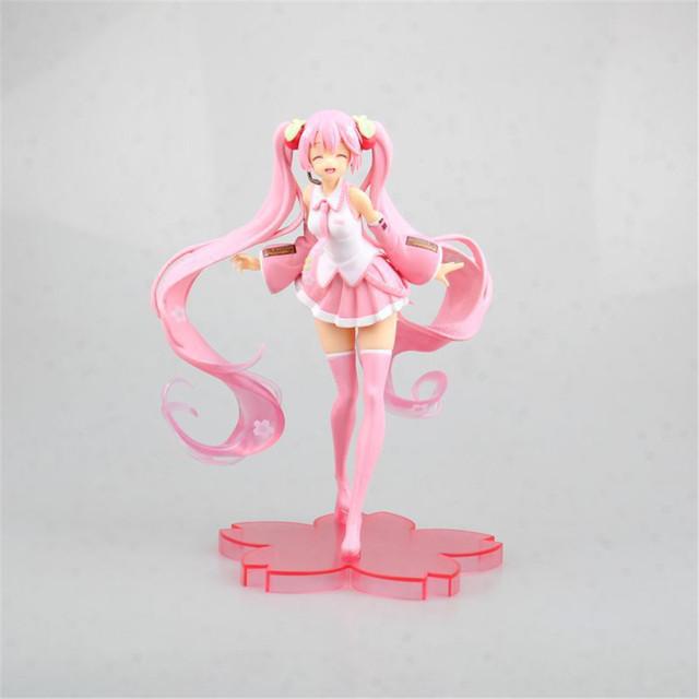 Hatsune Miku Pink Miku Sakura Action Figure Miku Anime Figure Kawaii Figurine PVC Model Kids Toys Girl Gift Figma Doll Figura PM
