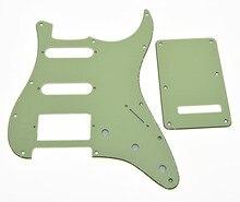KAISH Mint Green ST Style HSS Guitar Pickguard Scratch Plate,Trem Cover, Screws