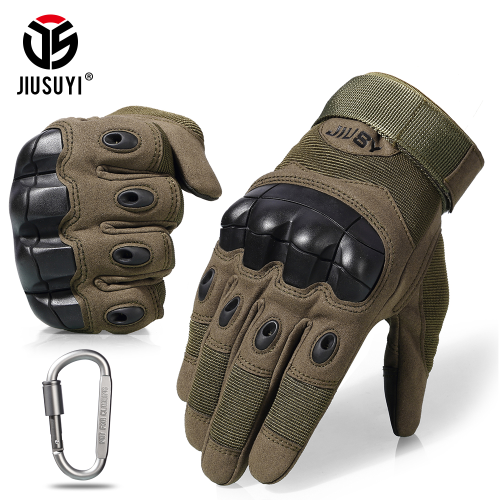 Touch Screen Tactical Gloves Military Army Paintball Shooting Airsoft Combat Anti-Skid Rubber Hard Knuckle Full Finger Gloves(China)