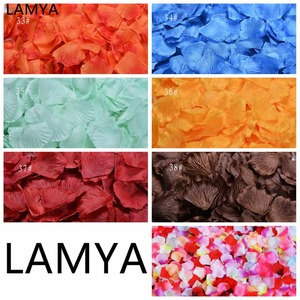 LAMYA 33-38 الألوان 500 قطعة/الوحدة 5*5 سنتيمتر الحرير الاصطناعي روز زهرة بتلات الزفاف بتلات ل الزفاف الديكور 38 الألوان