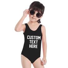 Купальный костюм для маленьких девочек, Цельный купальник с надписями, монокини боди, детская пляжная одежда, детский купальный костюм