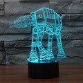 Star Wars Darth Vader Luz Da Noite 3D 7 Colorido LED Table Desk Lâmpada Luz