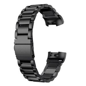 Image 2 - עבור Fitbit תשלום 3 להקת להקת עבור Fitbit תשלום 3 שעון רצועת מתכת רצועת השעון רצועת יד שעונים צמיד