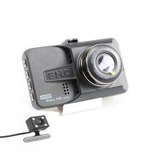 3.0 дюймов ЖК-дисплей Экран 170 degre два объектива Видеорегистраторы для автомобилей регистраторы Full HD 1080 P с Парковка гвардии Поддержка движения обнаружение G-Сенсор