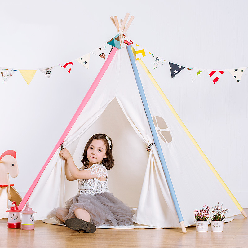 YARD anvas Teepee Canopy Tent Playhouse Kids Toy Teepee Tent Play Room Children Teepee Kid Tent