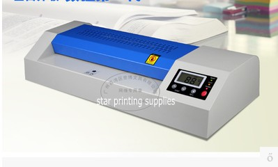 2017 New Hot roll and cold roll laminator 320mm laminating machine with LED control board and 4 pcs rubber rollers купить