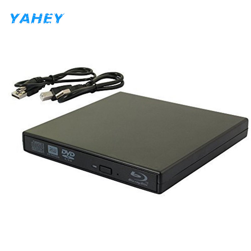 Bluray Drive USB 2.0 External Optical Drive DVD Burner BD-ROM Blu-ray Player Portable CD-RW Writer Recorder for Laptop Computer usb3 0 bluray drive external bluray combo read blu ray disc 3d and write normal cd dvd aluminium support windows10 and mac