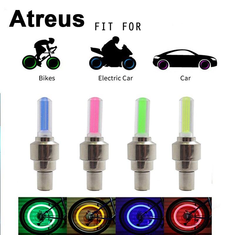 Atreus 2pc For BMW e46 e39 e36 Audi a4 b6 a3 a6 c5 X5 Renault duster Lada granta Motorcycle Car Wheel Tire Valve Caps LED Light