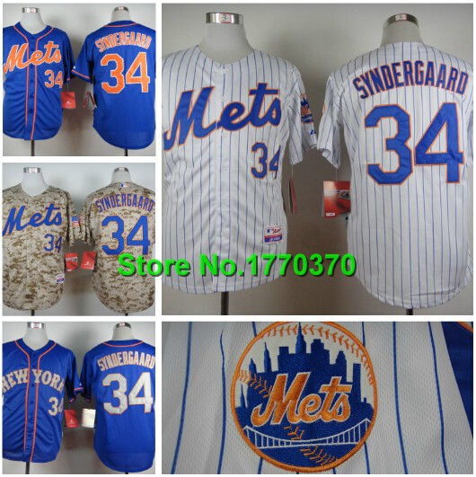 low priced 366c2 4b99b US $23.68 |#34 Noah Syndergaard Jersey New York Mets 2015 Cool Base Player  Shirt Baseball Jersey Stitched Logos Authentic Quality M 3XL-in Baseball ...