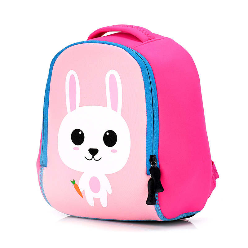 BOSEVEV 3D Animal School Bags Children Backpacks Girl Boys Backpack Baby Toddler Kids Neoprene Cute Kindergarten Cartoon Bag