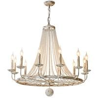 French Candles Rusty Retro Crystal Pendant Lamp American Style Village Ancient Iron Art LOFT Pendant Light