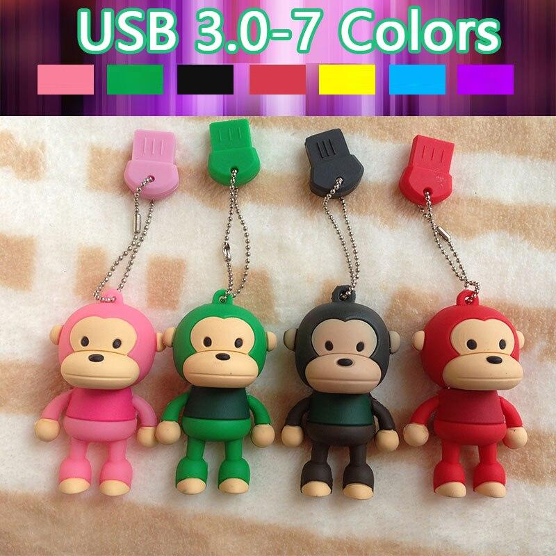New Arrival Cute Cartoon Monkey USB 64GB 3.0 Flash Pen Drive Disk Memory Stick 8GB 16GB 32GB Pendrive 512GB 128GB Creativo Gift