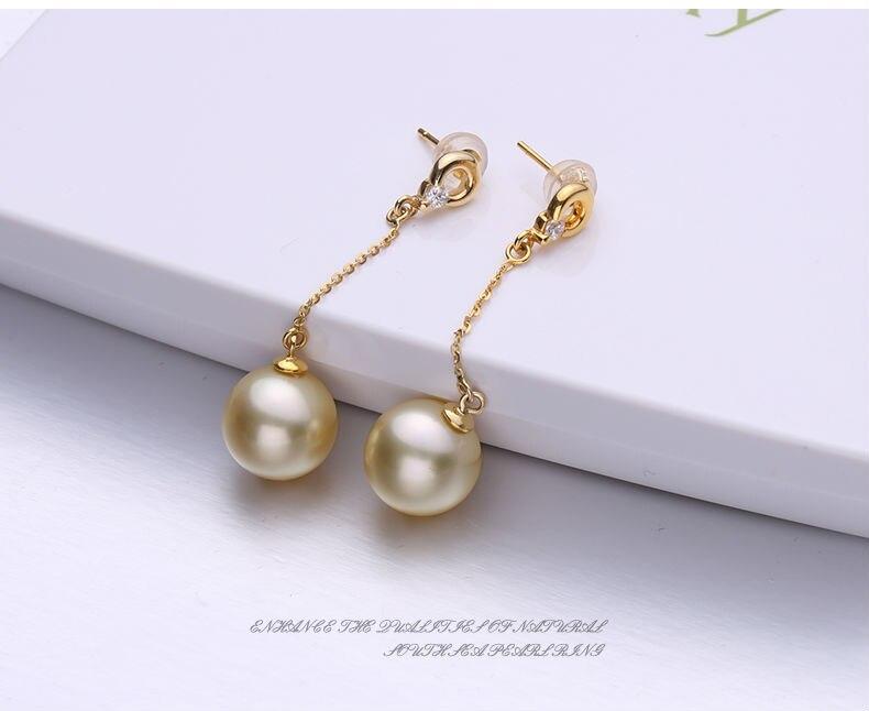 gold pearl earrings 66