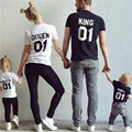 New Fashion Letters Print KING QUEEN 01 Tee Shirt Women Men Casual T Shirt Plus Size Summer Style Tops Family Casual Tees 60516