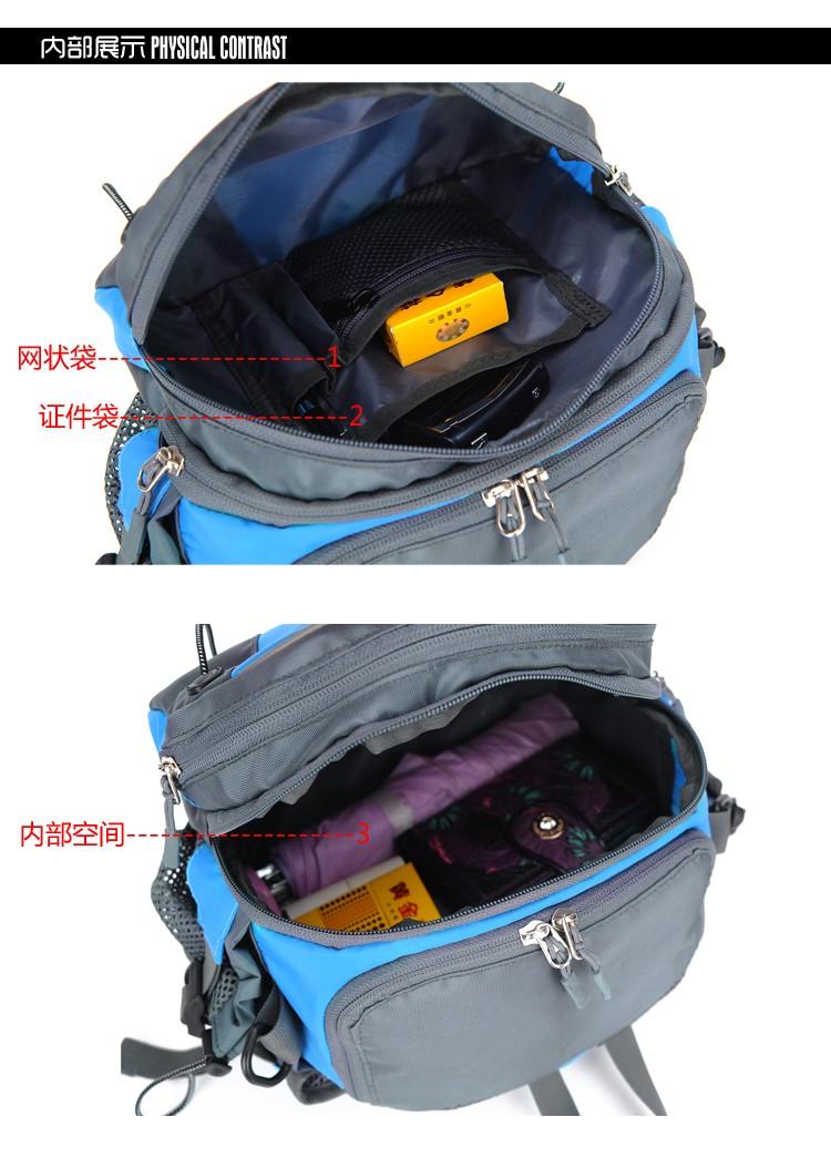 Men Women Sport Waist Bag Pack Backpack With Bottle Holder Outdoor Exploration Travel Casual Cycling Gym Storage Bag Packs (26)