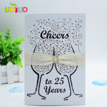 New arrival fancy party and anniversary decotion cups laser cutting invitation cards and greeting cards design with free logo