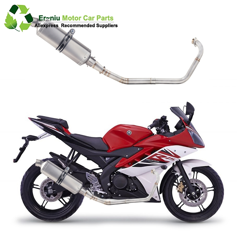 R15 YZF-R15 MT15 Motorcycle Full System Exhaust Muffler Escape Modified Link Pipe Slip-On For yamaha R15 2008-2017R15 YZF-R15 MT15 Motorcycle Full System Exhaust Muffler Escape Modified Link Pipe Slip-On For yamaha R15 2008-2017
