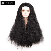 3532Xi.Rocks Curly Wig Black Long Cosplay Afro Synthetic Wigs For Black Women Natural Heat Resistant False Hair For Child Adults shaggy afro curly black heat resistant fiber fashion long capless wig for women