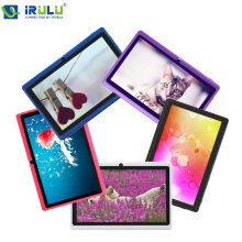 "X1 7 ""la tableta irulu 1.5 ghz quad core android 4.4 16 gb rom Soporte OTG WIFI de doble Cámara de Tablet PC Con Multi Color Caliente venta"