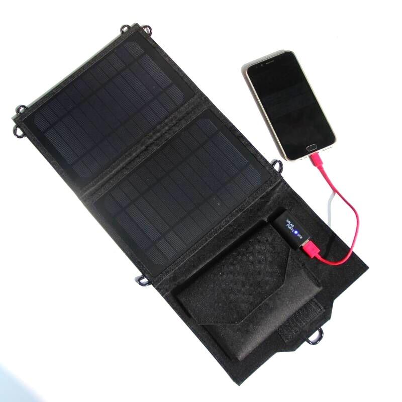 8W 5 5V Outdoor folding Solar Panel USB Output Portable Foldable portable Power Bank waterproof travel